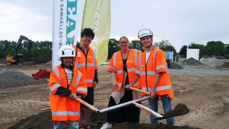 Byggstart för framtidens skola vid Tolvåkersområdet