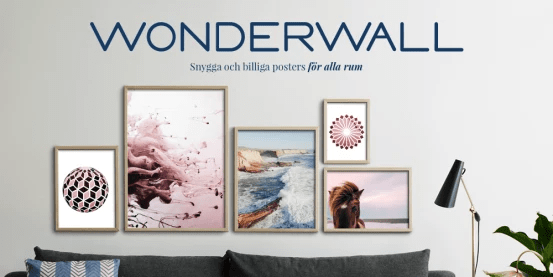 Adlibrisgruppen startar postersajten Wonderwall – snygga och billiga posters för alla rum