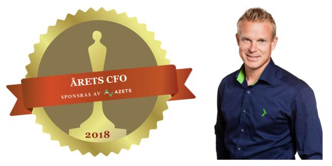 """Fredrik Peterson nominerad till """"Årets CFO"""""""