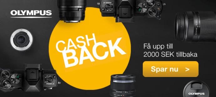 Få valuta för pengarna denna sommar med cashback på fotoutrustning från Olympus!