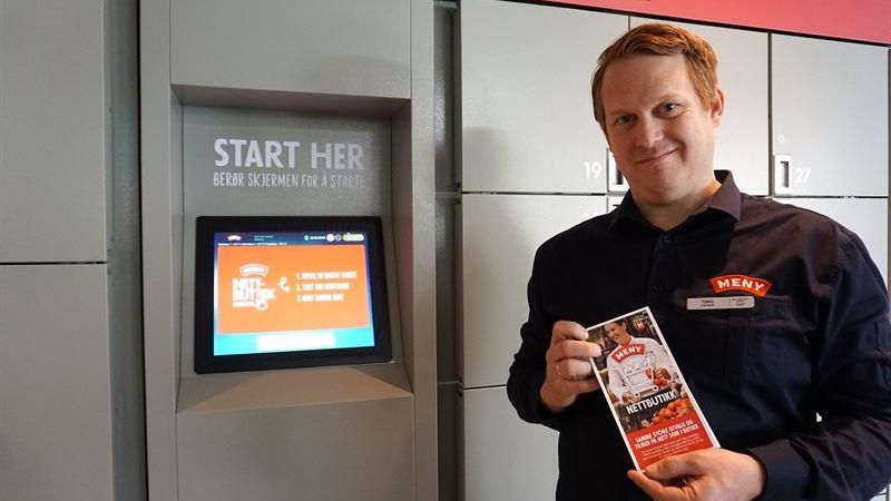 Nu är de första hämtskåpslösningarna för mat på plats i Norge
