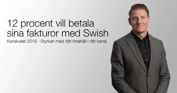 12 procent vill betala sina fakturor med Swish
