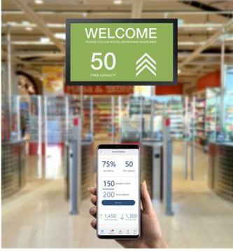 För en säker shoppingupplevelse – Gunnebo lanserar lösning för att säkerställa social distansering 1