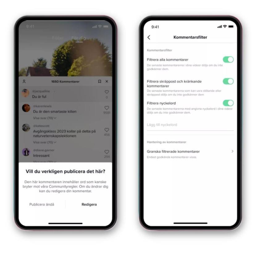 TikTok lanserar nya funktioner för att motverka mobbing