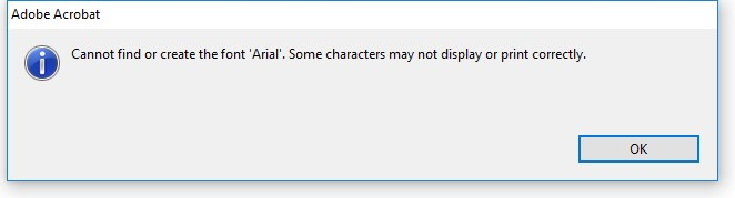 Adobe - Cannot find or create the font Arial - IT Tech Tips