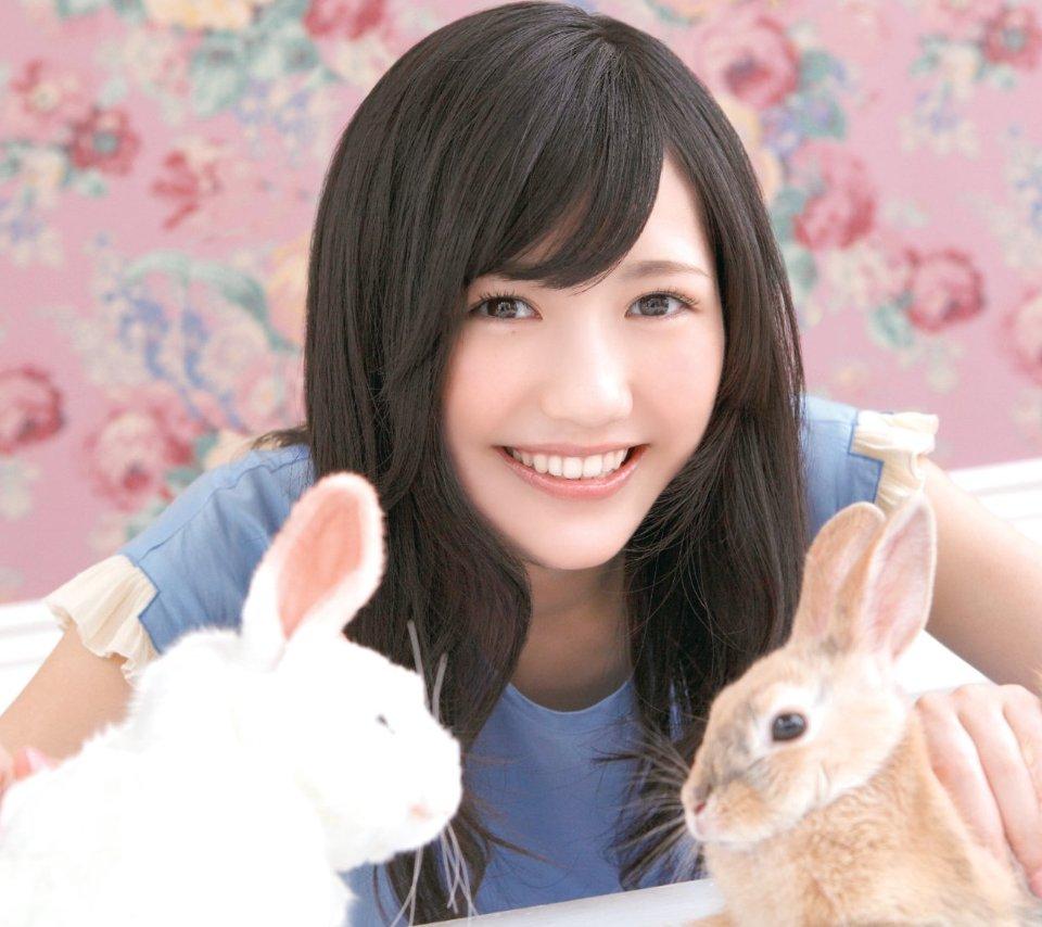 ウサギと渡辺麻友