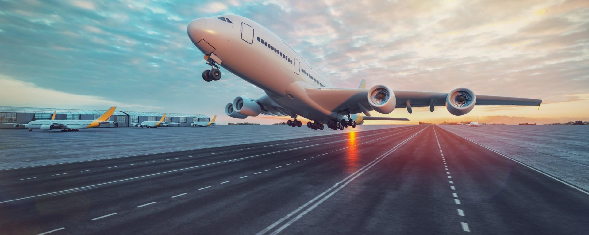 aereo al decollo