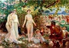 Il Giudizio di Paride, 1904 di Enrique Simonet