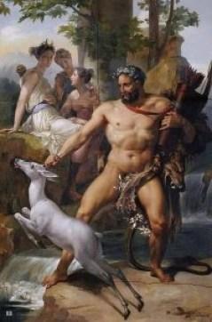 Ercole e la Cerva di Cerinea - Joseph Blondel