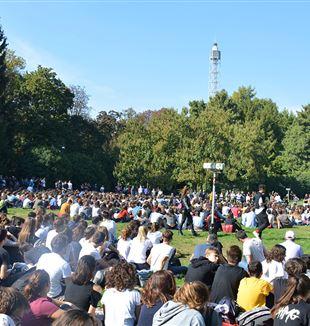 I giessini di Milano radunati al Parco Sempione