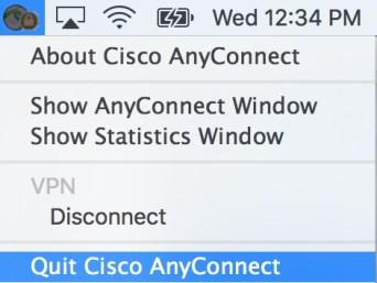 Close Cisco VPN