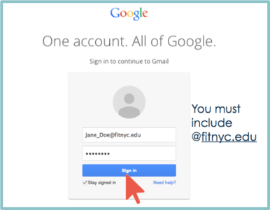 Google Sign in Page with FIT Email Account
