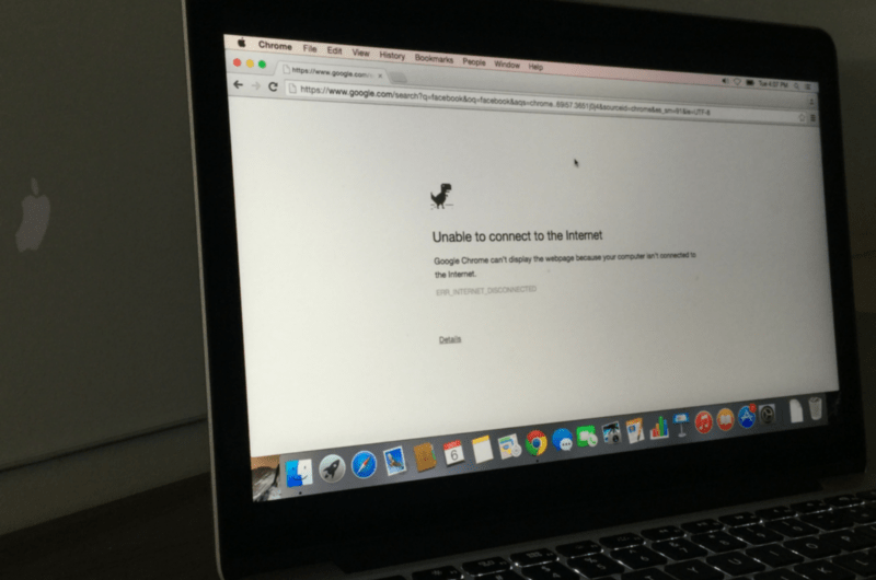 Mac Unable to connect to to the Internet