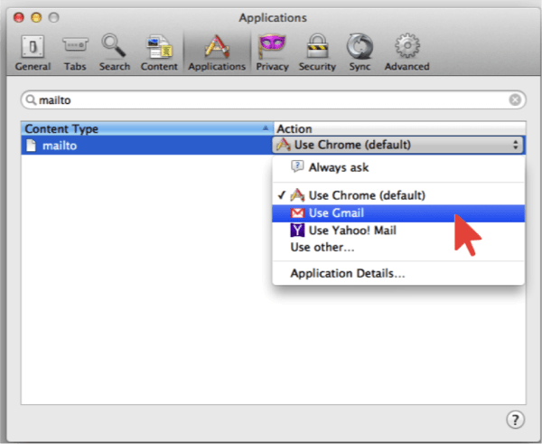 Mailto -Use Gmail