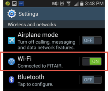 """Wi-Fi Setting to """"On"""" Android"""