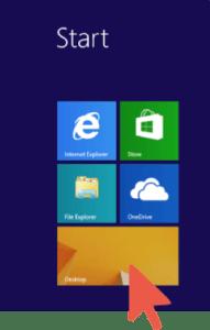 Windows Arrow on Desktop