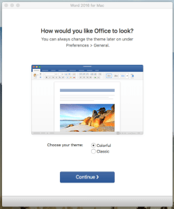 Select your Office 365 Preferences