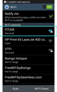Android Select FITAIR