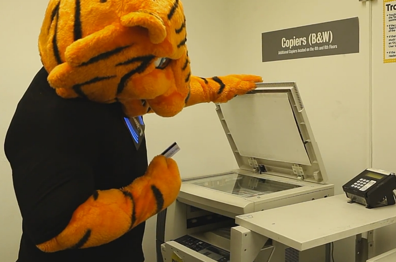 Stitch using a Photocopier in the Library