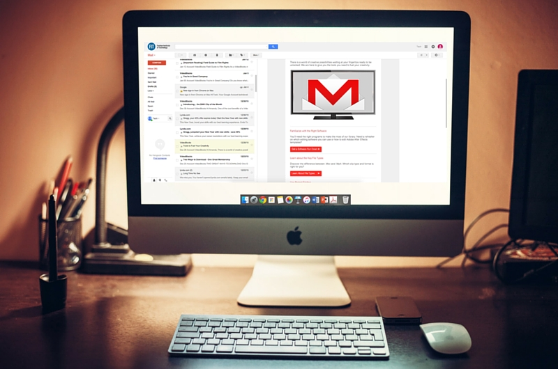 Mac Computer with FIT Gmail Open