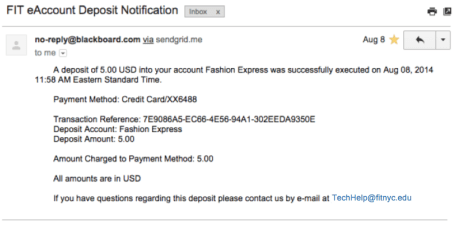 eAccounts Email Notifcation