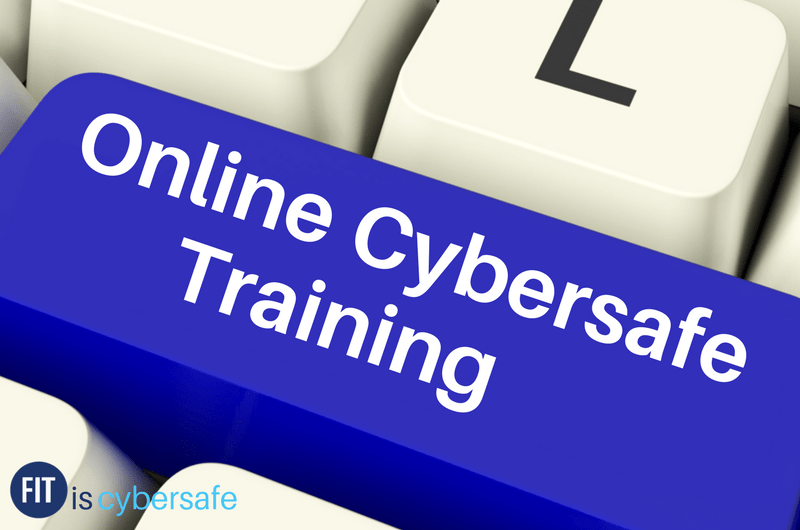 Key with words Online Cybersafe Training