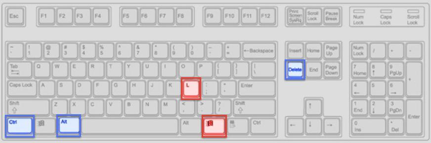 Windows Computer Screenlock Shortcuts