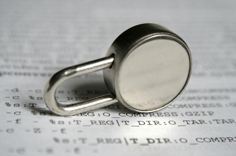 Lock sitting on Document