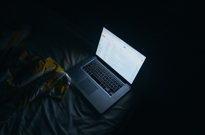 Computer on Gmail in the Dark