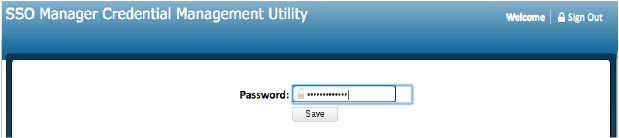 New SSO Manager Password Page