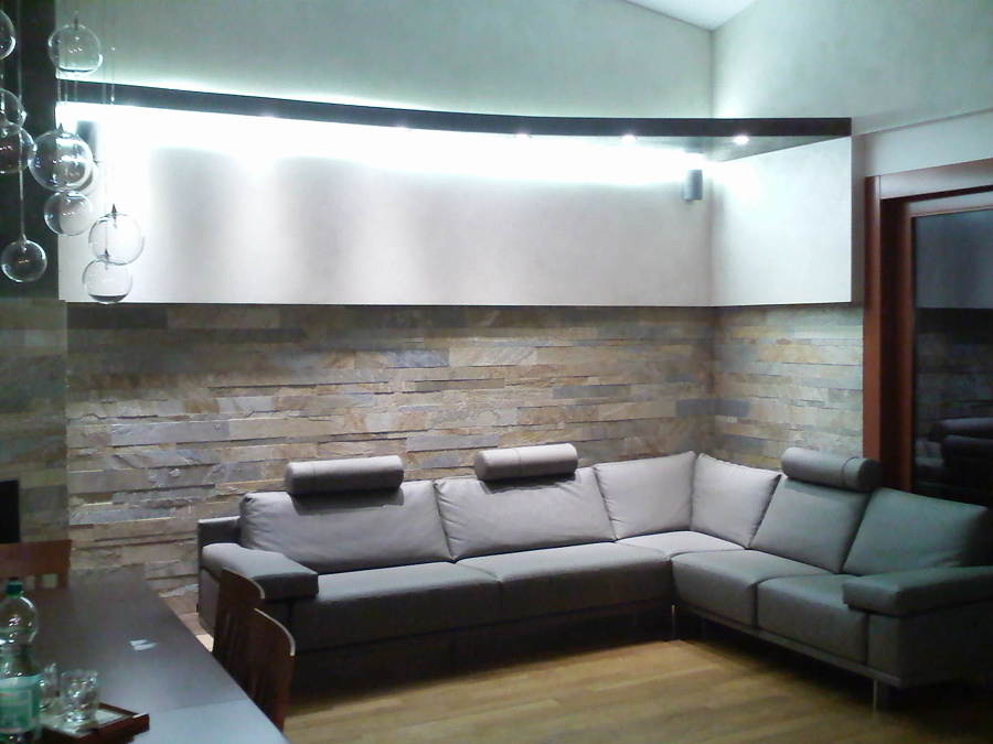 Parete attrezzata porta tv e pc; Foto Cartongesso Con Illuminazione A Led Di Zeta Interni S N C 441499 Habitissimo
