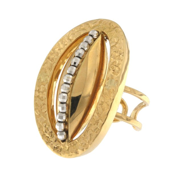 Ring in yellow and white gold
