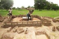 Construction de l'enceinte