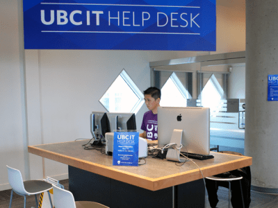 The UBC IT Help desk table.