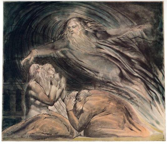 Il Signore risponde Giobbe di mezzo alla tempesta, William Blake