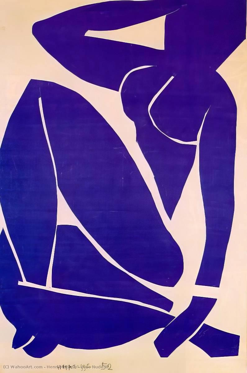Nudo blu III, guazzo di Henri Matisse (1869-1954, France)