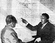 George Klein (a destra) ed il suo intervistatore