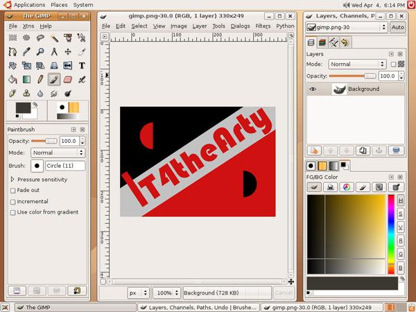 The GIMP Interface