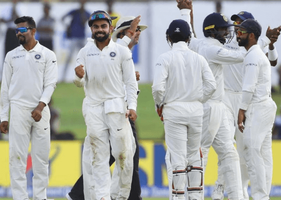 Team India Wins First Test Match Against SL