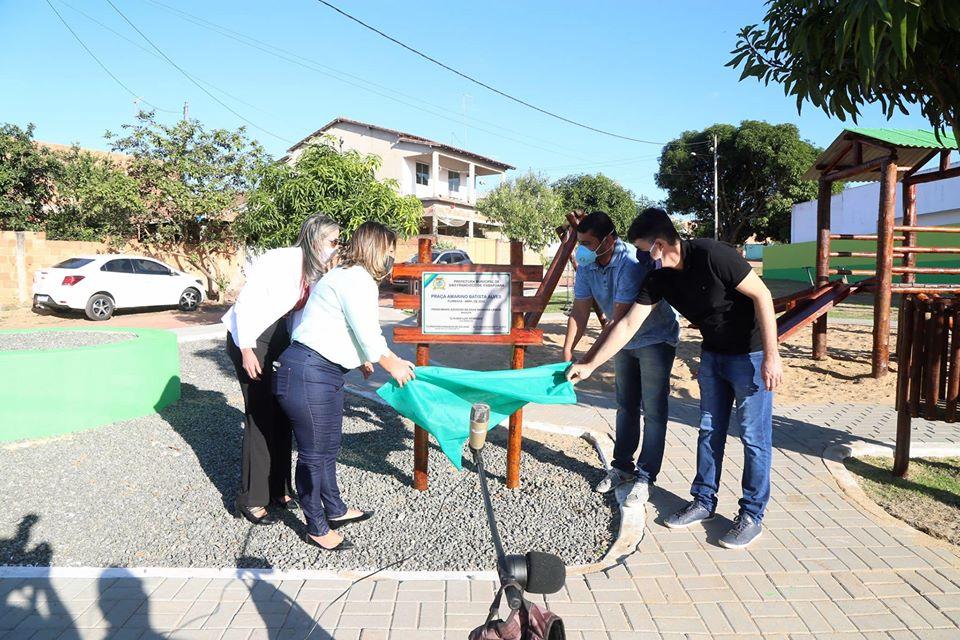 Prefeitura de São Francisco de Itabapoana inaugurou a praça Amarino Batista Alves, em Floresta, nesta segunda-feira (11)
