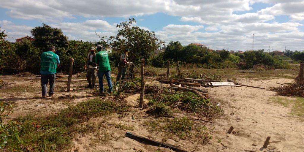 Operação desmobiliza ocupação irregular de Área de Preservação Permanente
