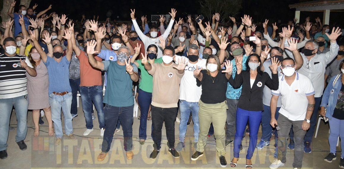Em Amontado, Isaac Salvador, Francimara e  Raliston, promoveram mais uma reunião da vitória nesta quinta-feira (15). Fotos: