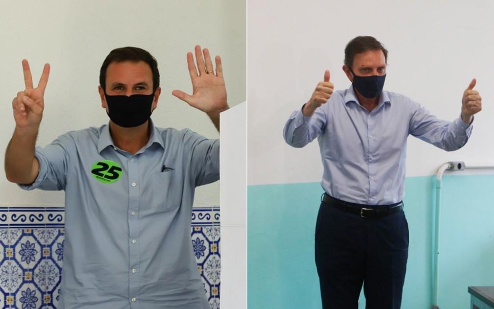 Paes e Crivella disputarão o segundo turno das eleições no Rio
