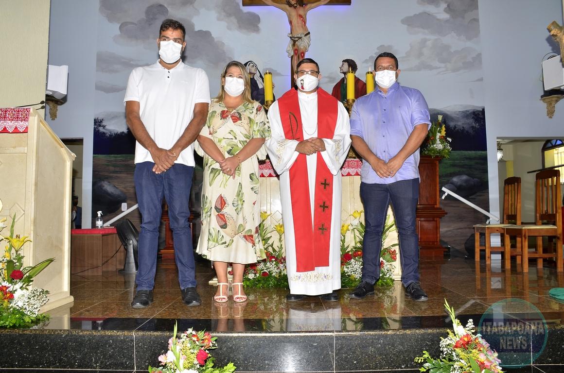 Dia de São Sebastião: prefeita participa de missa em Barra do Itabapoana