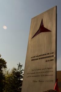 Il monumento alle Brigate Internazionali situato all'Università Complutense di Madrid