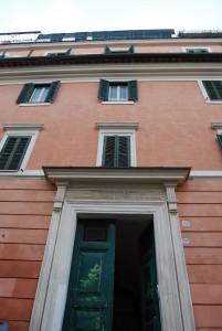 La casa di Rafael Alberti a Trastevere, in Via Garibaldi 88 (foto di Clara Cobos Martín)