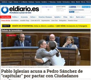 bacio Pablo Iglesias