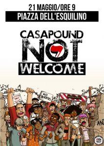Il manifesto della manifestazione antifascista di Roma, del 21 maggio 2016: contro la concentrazione di Casa Pound