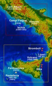 Vulcani attivi e quiescenti in Italia (INGV)