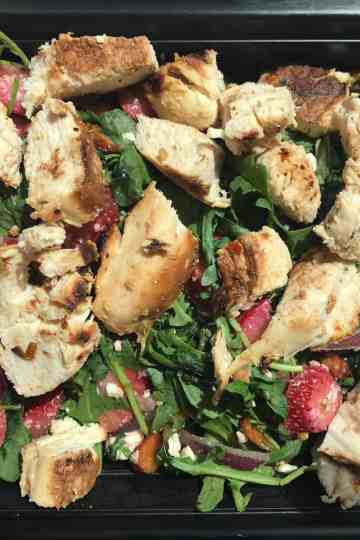 Strawberry Arugula Salad with Grilled Chicken